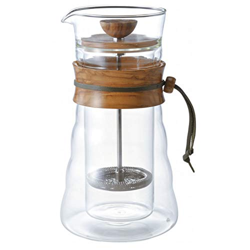 Hario Double Glass Coffee Press DGC-40-OV (Japan Import)