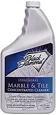 MARBLE & TILE FLOOR CLEANER. Great for Ceramic, Porcelain, Granite, Natural Stone, Vinyl and Brick. No-rinse Concentrate. (1-Quart)