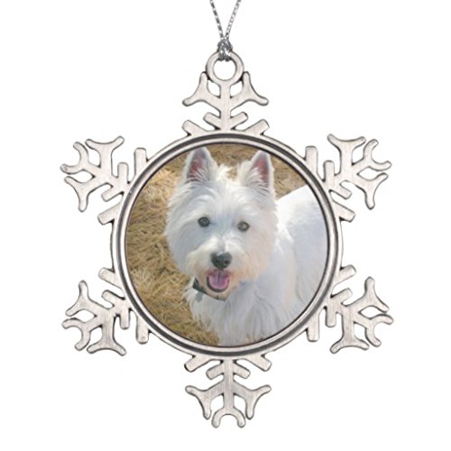 LilithCroft99 Pet Photo Template Pewter Christmas Tree Ornament