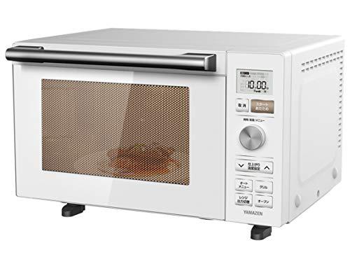 [山善] オーブンレンジ 18L フラットテーブル ヘルツフリー 自動メニュー18種類 グリル トースト 簡単お手入れ ホワイト YRP-F180V(W) [メーカー保証1年]