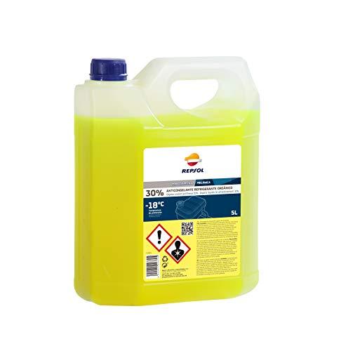 Repsol RP718U92 Anticongelante Orgánico 30%, Amarillo, 5 L
