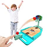 Basketball Game Toy,Desktop Sports Games,Basketball Gifts,Desktop Arcade Basketball Game,Indoor Basketball Shooting Game with Basketball Court,Move Basket,Fun Sports Novelty Toy for Boys and Girls