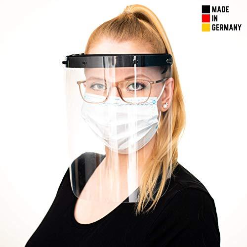 Hochwertiges Visier Gesichtsschutz aus Kunststoff - Face Shield - Schutzschild für das Gesicht - Made in Germany