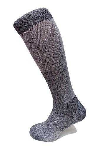 Miribung Sport Active - Calcetines de esquí largos, talla 36-38, color gris