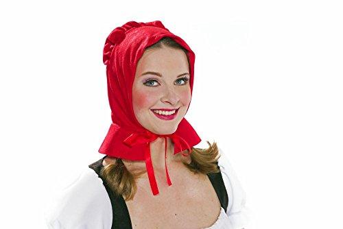 Rotkäppchen-Haube mit Rückenschößchen für Erwachsene Rotkäppchen-Kostüm