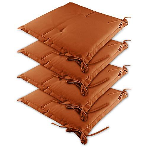 Detex 4X cojínes Sydney Terracota para sillas almohadones Interior y Exterior Asiento...