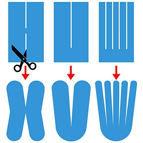 12 Rollen Kinesiologie Tape 5 m x 5,0 cm in verschiedenen Farben, Farbe:schwarz - 6