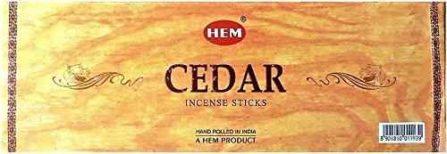 YesMandala Hem Lot de 6 boîtes de 20 bâtonnets d'encens parfum cèdre