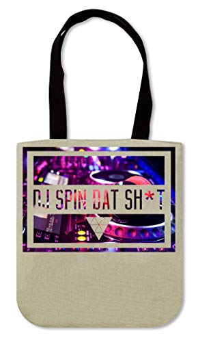 DJ Spin dat sh*t | Music series | Scratching | Headphones | Controller | Producers | Club | Party | Simple | Shape Canvas Einkaufstasche