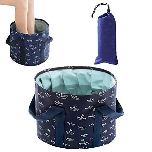 Vssictor Cubo de Agua Plegable, bañeras Plegables Plegables para pies, Lavabo portátil para pies, pies para remojar, para Viajes en casa, SPA para pies con una práctica Bolsa de Transporte