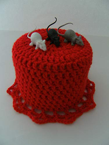 Storchenlädchen Klohut mit Mäusen Klohüte Klopapierhut Klopapierhüte Toilettenpapierhut Toilettenpapierhüte Maus Ratten