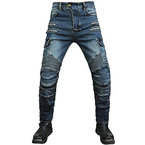 GFENG Mens Motorcycle Jeans Protection Lining Motorbike Jeans