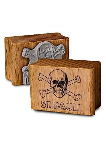 FC St. Pauli stempel/houten stempel ** doodskop **