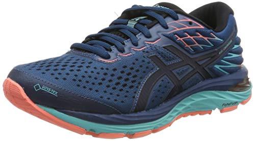 Asics Gel-Cumulus 21 G-TX, Zapatillas de Running Mujer, Azul (Mako Blue/Midnight 400), 37.5 EU
