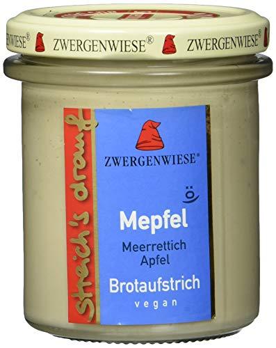 Zwergenwiese Bio Aufstrich streichs drauf Mepfel (Merrettich-Apfel) laktosefrei, 160 g