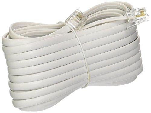 Trisonic TS-825teléfono Cable de extensión Cable de teléfono, Color Blanco