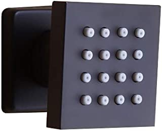 JiaYouJia Single Function Square Wall Mounted 25-Nozzle Body Spray Shower Jet in Matte Black