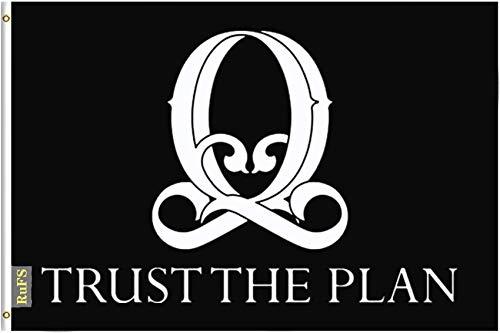 RuFS Q Army, QANON, qanon Trust The plan Gartenhaus einseitig Polyester Zeichen Outdoor Banner Außenwand Innenhof Banner Dekor