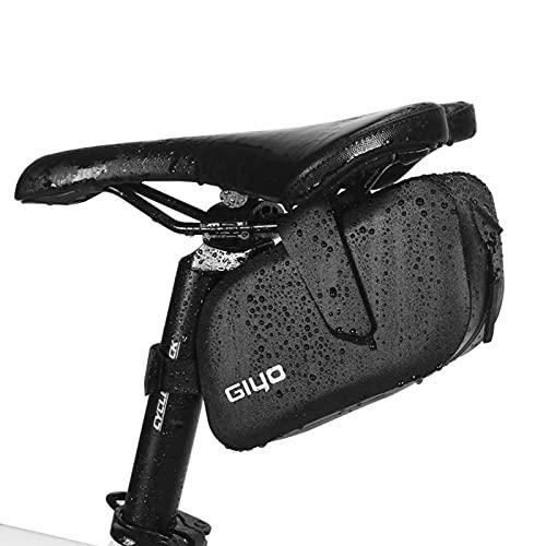 Bolsa Sillín Bicicleta Impermeable Cola de Coche de Carretera Bolsa de cojín de Carreras de Velocidad con Hebilla Colgante Equipo de Bolsa de Cola Trasera,