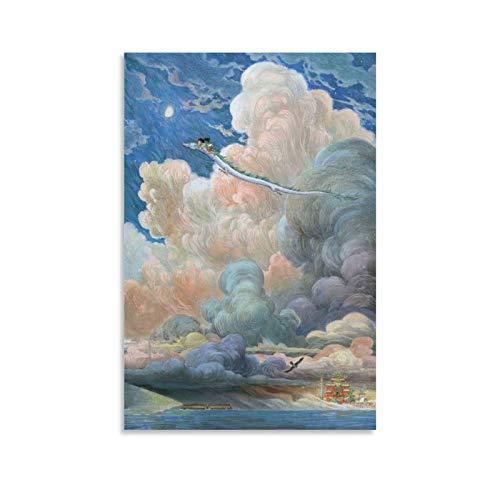 KJHG Póster de China Spirited Away, cuadro decorativo, lienzo para pared, sala de estar, póster, dormitorio, 30 x 45 cm