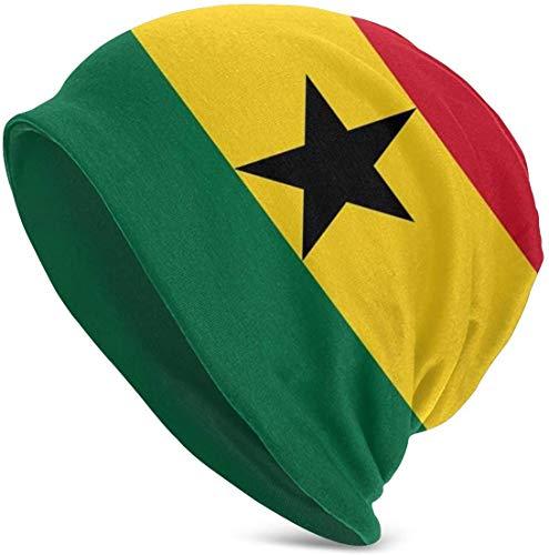 Whecom Strickmützen, Ghana Flag Valentine Funny Upgrade Hip-hop Adult Pullovers, Adult Knit Beanie Warm Knit Ski Skull Cap Beanie Mütze One Size für Damen und Herren