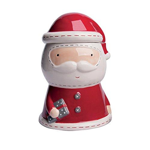 Excelsa - Tarro para Galletas (cerámica), diseño de Navidad, Color Blanco...