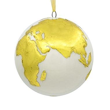 Hallmark Signature Premium World Globe Travel Porcelain Christmas Ornament