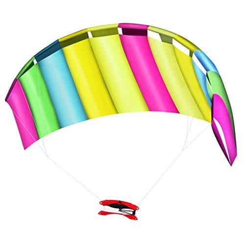 Großer Regenbogen Drachen Lenkmatte, Lenkdrache, 120x55cm - Robust & Einfach zu Montieren.