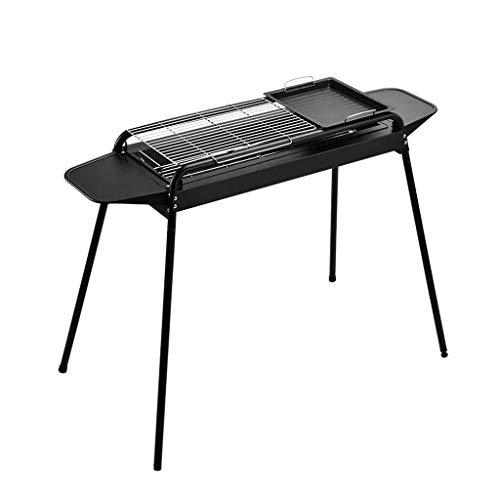 WYZXR Holzkohlegrill Einstellbare Grill, Schreibtisch Chromstahl BBQ Grill für Kochen im Freien Camping Wandern Picknicks