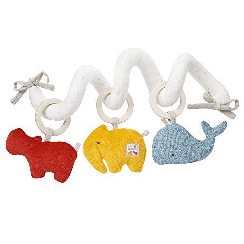 Fehn 056136 Activity-Spirale fehnNATUR – Spielzeug aus 100% Bio-Baumwolle für Babys und Kleinkinder ab +0 Monaten – Fördert die Sinne und die Hand-Auge-Koordination – Größe: 30 cm
