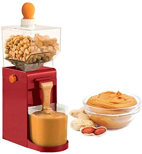 xfyjy Haushalts-Erdnussbutter-Maschine, 500 ml tragbarer Nussbutter-Hersteller, kleine Kochmühle für Kaffee Mais Erdnuss-Cashewnuss-Haselnuss-Getreidemahlung