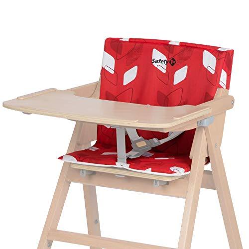 Safety 1st Coussin pour Chaise Haute Bois pour Bébé Nordik Red Campus