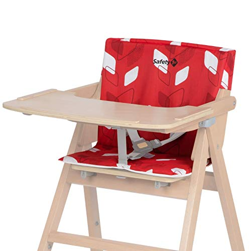 Safty 1st cojín Trona Nordik, cojín para Nordik Trona madera plegable, Fácil de limpiar, color Red Campus