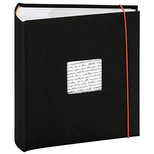 Panodia Fotoalbum Linea schwarz mit Taschen 300 Fotos 11x15cm