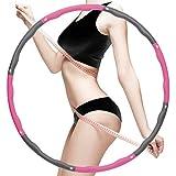 HONEYWHALE Hula Hoop - Pneumatico per adulti, per fitness, 1,2 kg, Hoola Hoop 8 sezioni, pneumatici rimovibili, adatto per riduzione del peso, massaggio, modellazione addominale