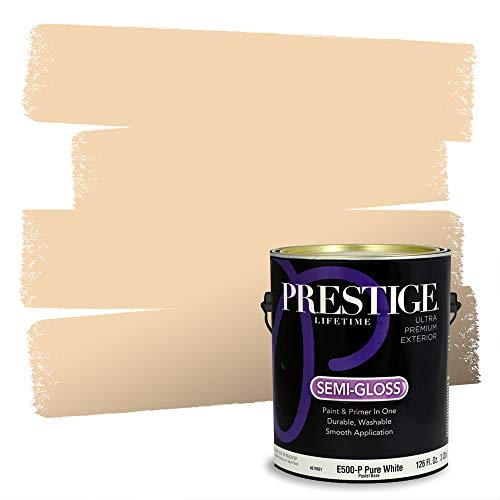 Prestige Paints Exterior Paint and Primer In One, 1-Gallon, Semi-Gloss, Comparable Match of Sherwin Williams* Frangipane*