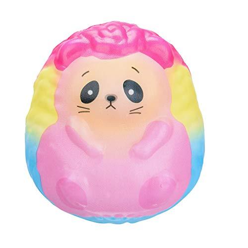 About1988 Kawaii entzückendes Igel Spielzeug, langsame steigende Creme-duftender spielt Geschenke, Squishie Kinder Geschenk Spielzeug Langsam Steigend Anti-Stress Slow Rising Kawaii Gift (Gelb)