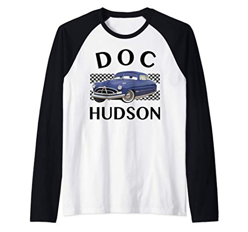 Disney Pixar Cars Doc Hudson Finish Camiseta Manga Raglan