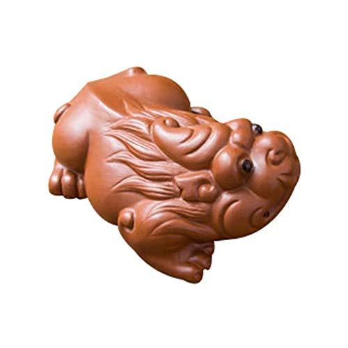 GXC Lila Tone Tea set, Chinese god Beast beeld Kung voor thee houders, handgemaakte decoratieve geschenken, woonkamer slaapkamer kantoor decoratie 1 piece A
