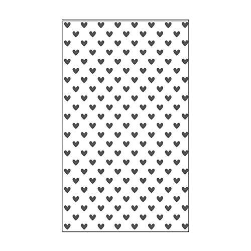 Vaessen Creative Mini Prägeschablone Embossing Folder 7, 6 x 12, 7 cm, Herzen, Muster zum Prägen, Stanzen und gestalten von DIY Scrapbook, Fotoalbum, Briefumschläge und Karten