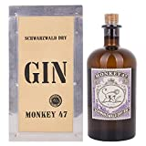 Monkey 47 Schwarzwald Dry Gin 47% - 500 ml in Holzkiste