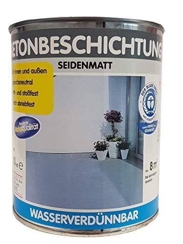 Wilckens Betonbeschichtung für innen und außen wasserverdünnbar seidenmatt farbton wählbar 750 ml, Farbe (RAL):RAL 7001 Silbergrau, Glanzgrad:seidenmatt