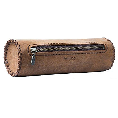 hecho. Federmäppchen - Handgefertigt, 100% echtes Leder & Fair-Trade (Federmappe, Schlampermäppchen, Stiftemappe)