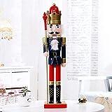 ARONTOME Soldado de madera del cascanueces de los 60cm, decoración de la muñeca de los niños, adornos de la feliz Navidad (C)