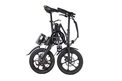 Kwikfold 2019 Xite 3A Bicicletta Elettrica Pieghevole Ebike Pedelec 16' Shimano 7 Velocità (Nero)