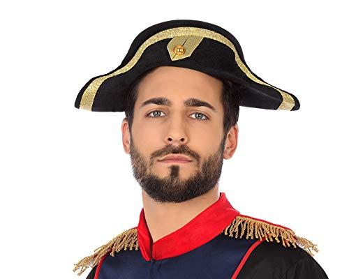 Atosa 49312 hoed Napoleon, zwart, unisex – volwassenen