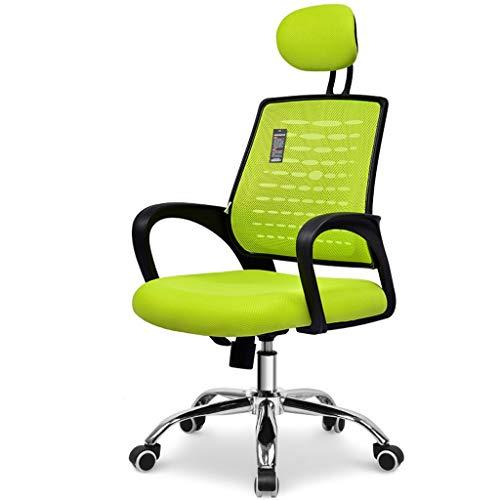 Silla de oficina Silla de oficina ergonómica con respaldo alto de malla Silla giratoria de escritorio con reposacabezas y altura del asiento ajustables, reposabrazos con inclinación y apoyabrazos y so