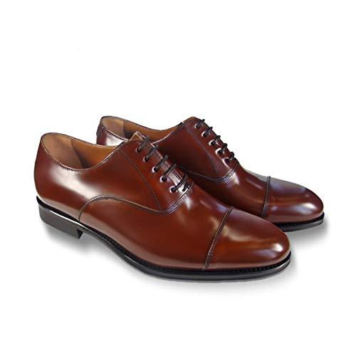 Leyva -Zapatos de Hombre Novo Antic Modelo Denis - Fabricación Artesanal.Color Coñac.Talla...