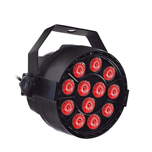 Luz De DJ 18W 12 * 3 En 1 RGBW LED Stage Par Light Luminariapara Home Club Parties (Size:Small; Color:AU)