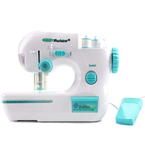 Aconka Electric Sewing Machine for Kid Children Sewing Machine Portable Desktop Electric Medium Size Sewing Machine for Making Cloth